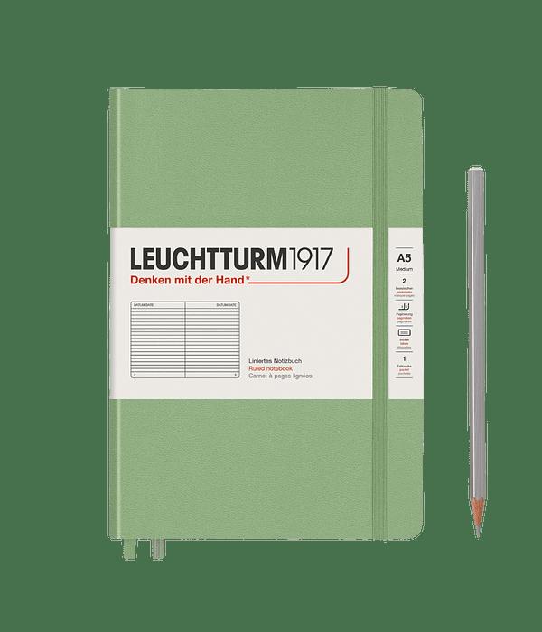 Libreta Leuchtturm Mediana Tapa Dura Composición - Salvia