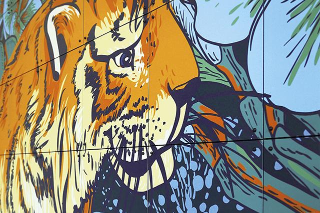 Mural Tiger Jungle & Toucan Family  image 4