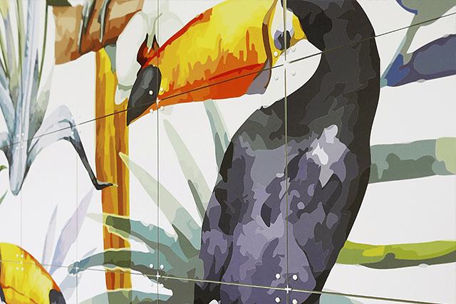 Mural Tiger Jungle & Toucan Family  image 5