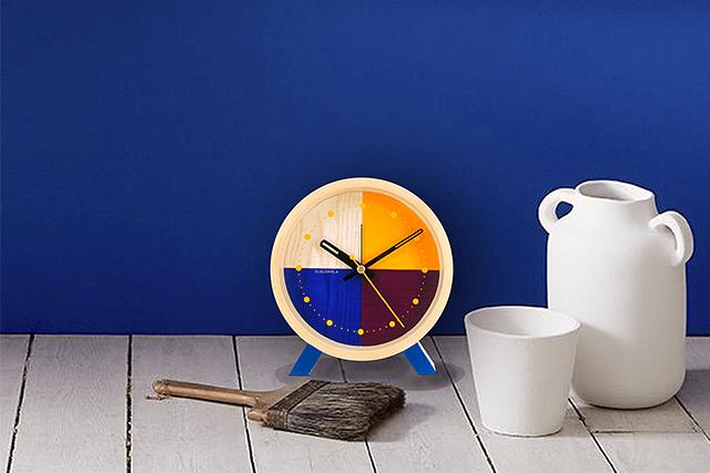Reloj Flor Blue Desk image 4