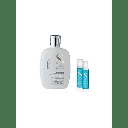Kit Shampoo Semi di lino Diamond 250ml + 2 Ampollas Diamond 13ml