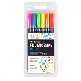 Fudenosuke Neon Brush Pen Set