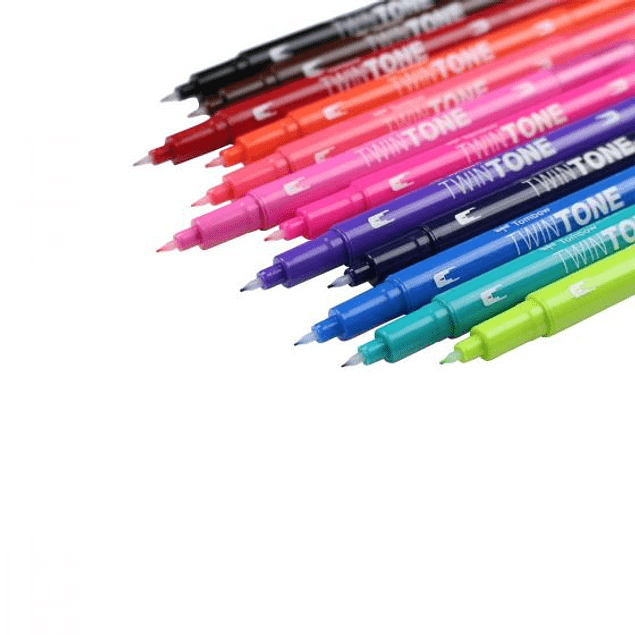 Tombow TwinTone set 12 - Brights