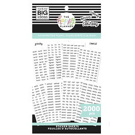 Value Pack Stickers - Handwritten Plans
