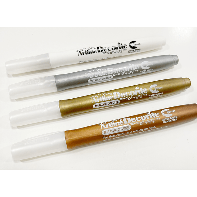 4 Decorite Brush Artline Metallic