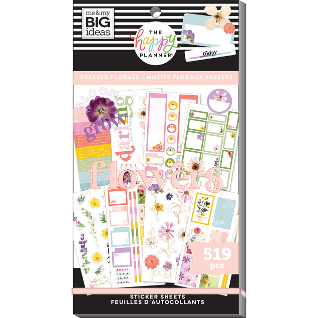 Pressed Florals - Value Pack Stickers