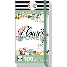 Flower Power 100 láminas - Value Pack Stickers