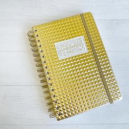 Cuaderno Tapa Dura A5 Puntos Dorado