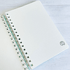 Cuaderno Tapa Dura A5 Puntos Verde Agua