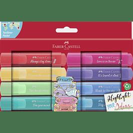 Set 8 Destacadores 46 textliner pastel edición Viajes