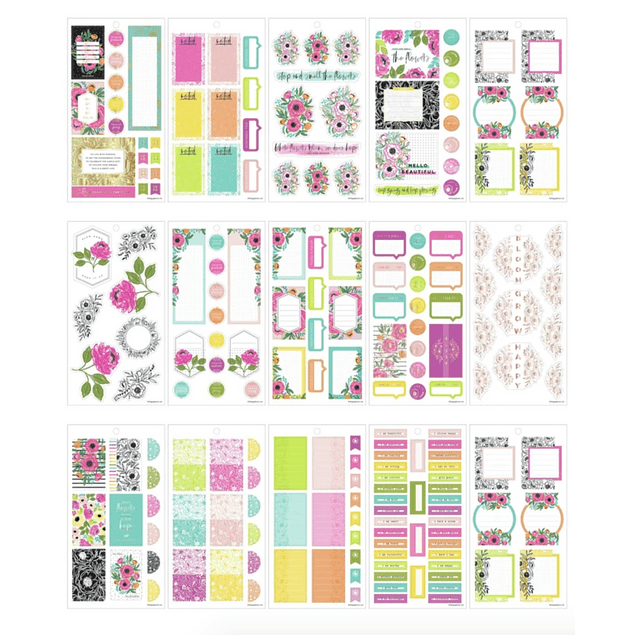 Value Pack Stickers - Colorful Florals