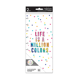 Rainbow Classic Snap In Planner Envelopes