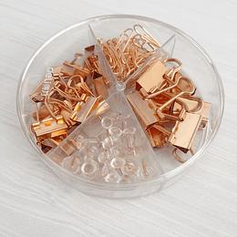 Cajita con accesorios Rosegold