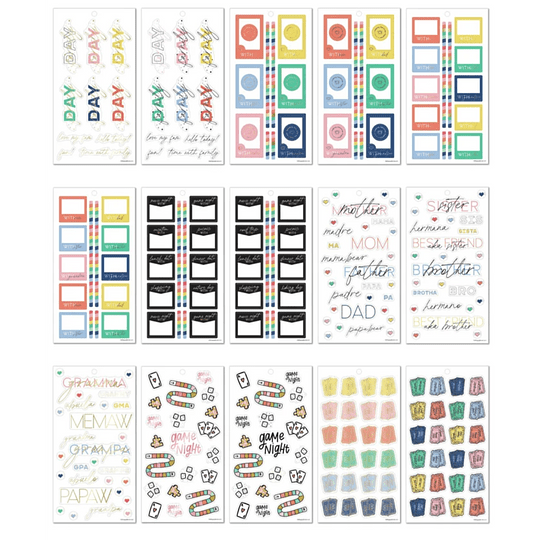 Value Pack Stickers - Family