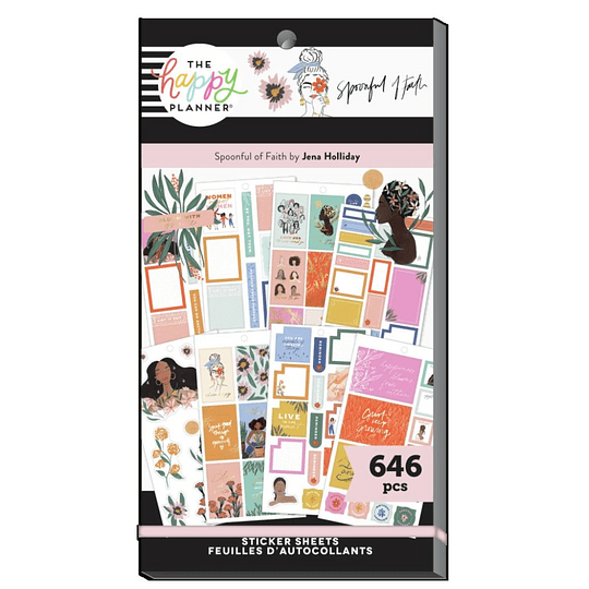 The Happy Planner x Spoonful of Faith Value Pack Stickers - Everyday