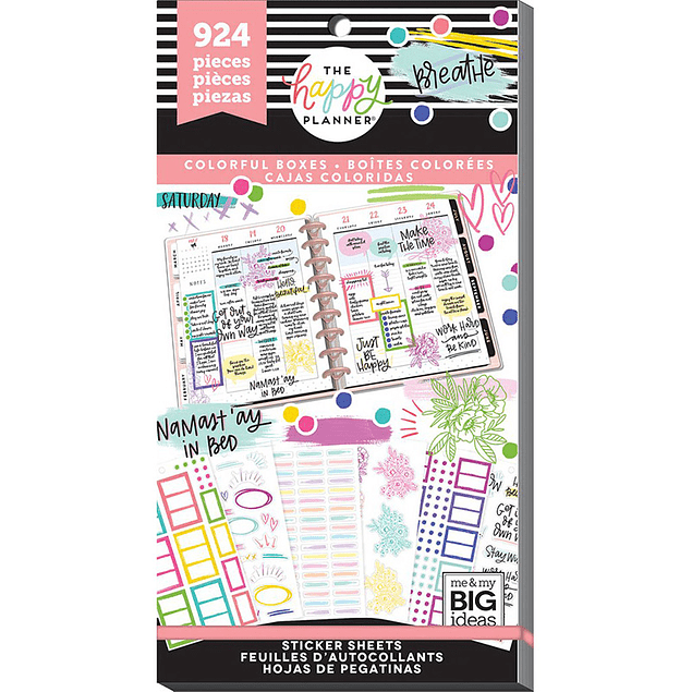 Value Pack Stickers - Colorful Boxes