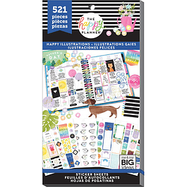 Value Pack Stickers - Happy Illustrations