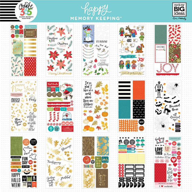 Happy Memory Keeping™ Value Pack Stickers - BIG - Seasons & Holidays
