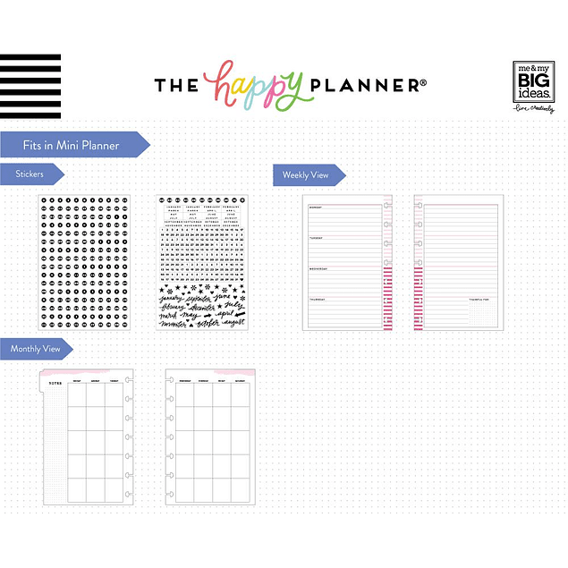 Extensión de Calendario Mini Happy Planner