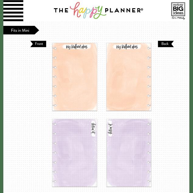 Inserts para Mini Happy Planner Colores