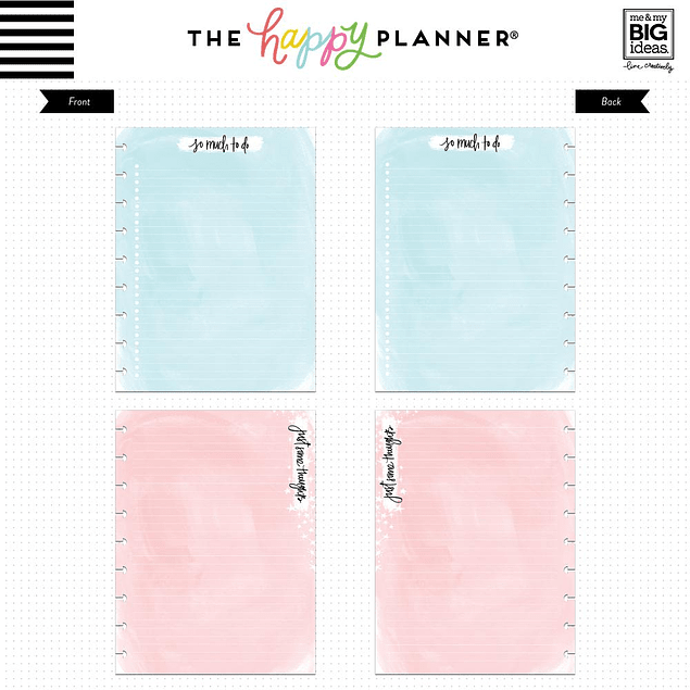 Inserts Happy Planner Classic Acuarela