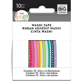 Rainbow Skinny Washi Tape