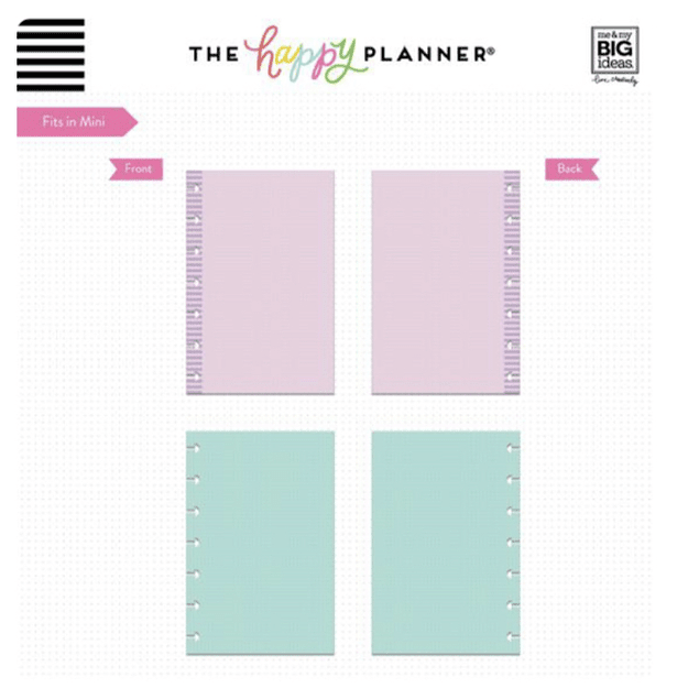 Inserts Happy Planner Mini Puntos de colores