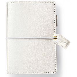 WHITE GLITTER POCKET TRAVELER