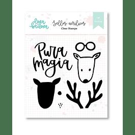 Set de sellos acrilicos PURA MAGIA