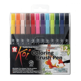 Set 12 Koi Coloring Brush Pen