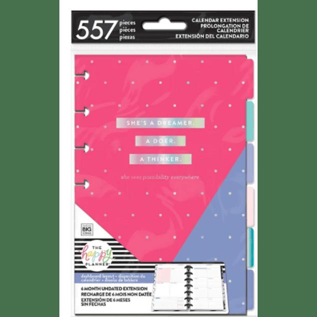 Extensión de Calendario Mini Happy Planner Dashboard