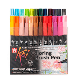 Set 24 Lápices Koi Coloring Brush