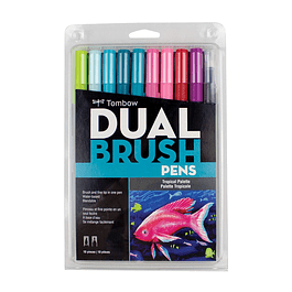 Set dual brush pen Tombow Tropical