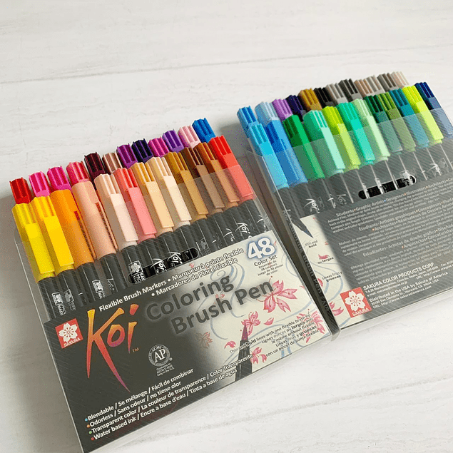 Set 48 Lápices Koi Coloring Brush