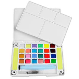 Set de 24 colores Acuarelas en Pastilla Koi