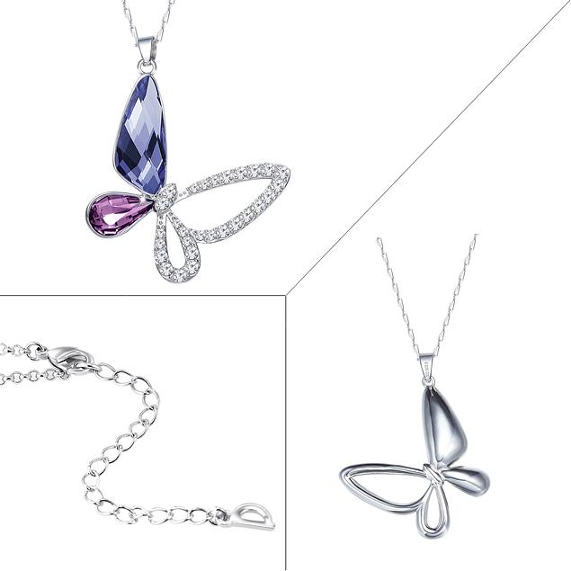 0872af0083f5 Collar Mariposa con Cristales Swarovski - Plata 925 y Rodio