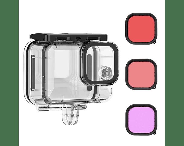 Kit Carcasa GoPro Hero 9 + Filtros para Buceo
