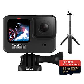 GoPro Hero 9 Black + MicroSD 32GB + Mini Bastón Tripode