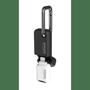 Lector de tarjetas Micro SD portatil Quik Key para Iphone