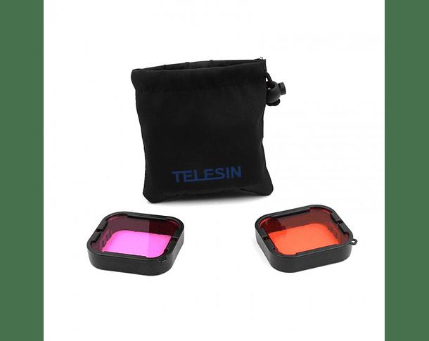 Pack Filtros para Agua Rojo y Magenta para Supersuit ( Telesin )