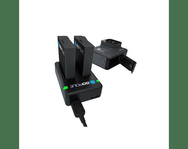 Cargador Dual + Dos Baterías GoPole