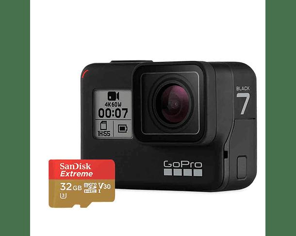GoPro Hero 7 Black + MicroSD Sandisk 32GB Extreme