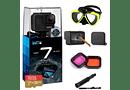 GoPro 7 Black + MicroSD 32GB + Mascara Buceo + Filtros Buceo + Protectores de Vidrio + Bastón