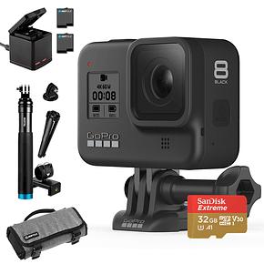 GoPro Hero 8 Black + MicroSD 32GB + Bastón + Trekcase + Cargador y Baterias