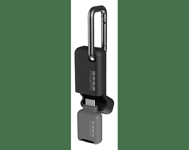 Lector de Tarjetas Micro SD Portátil Quik Key USB-C