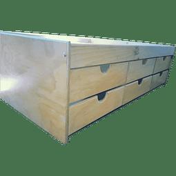 Cama con cajones box