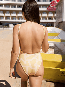 PORTOFINO in yellow geometric
