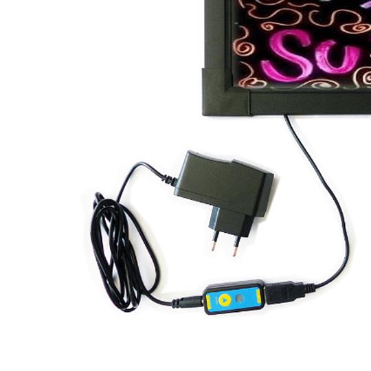 Pizarra LED De 60X80cm + Set 8 Plumones de Témpera