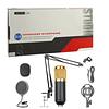 Microfono Condensador, Con Brazo Metal, Para Sobre Mesa, Plug 3,5Mm.