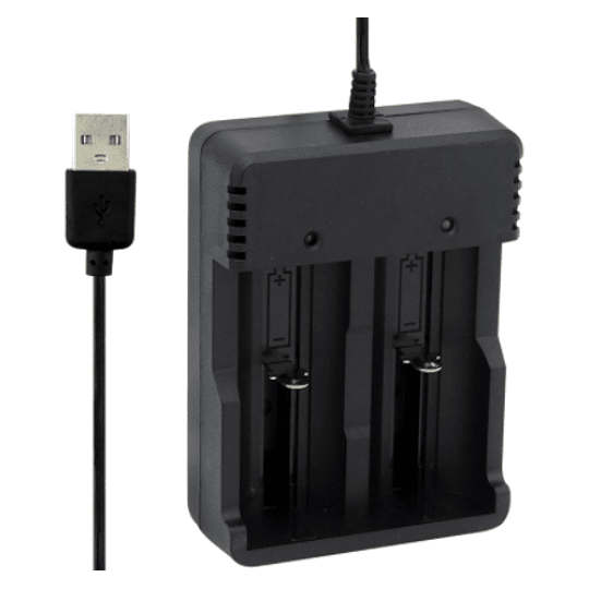 Cargador De Pilas Por USB, Ajustable 4.2 Volt, Con Indicador